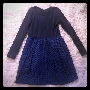 Crewcuts navy blue polka dot dress